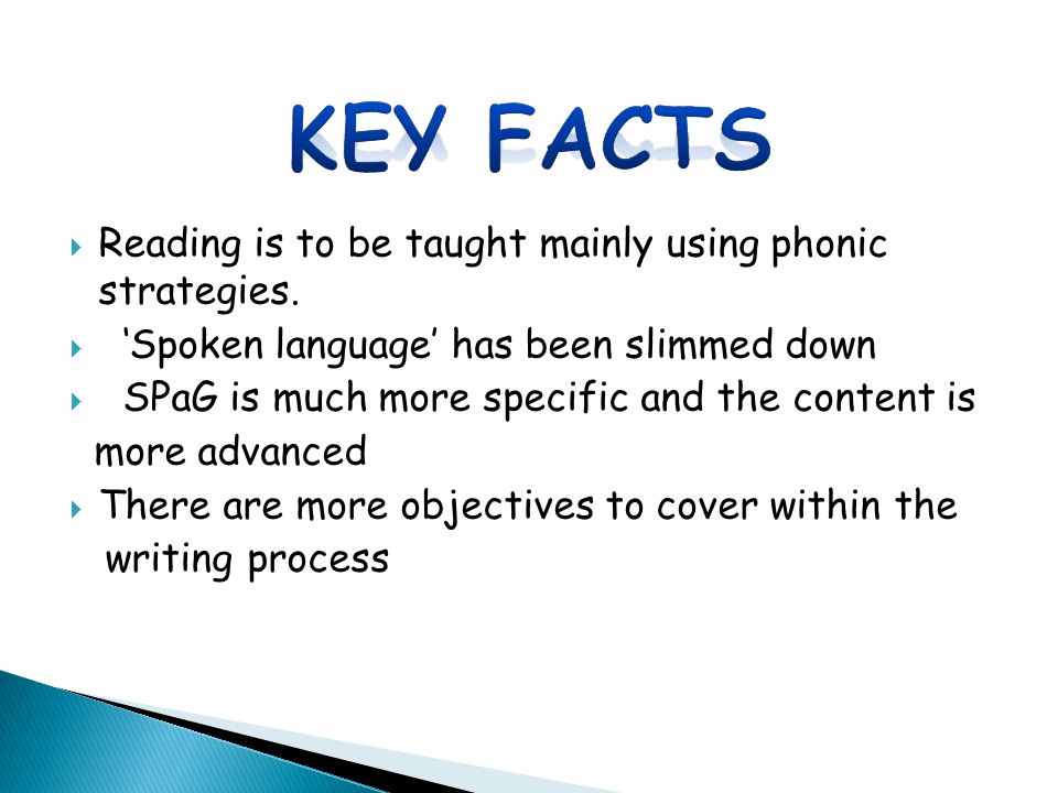  Reading is to be taught mainly using phonic strategies.