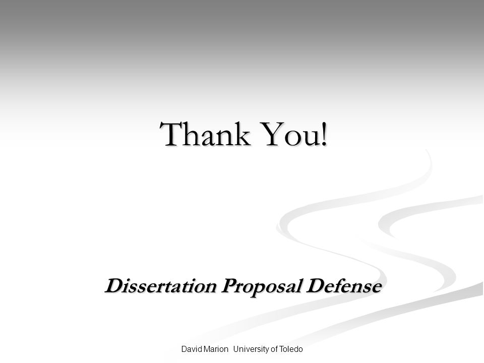 dissertation proposal defenese A dissertation research proposal would be incomplete without a dissertation proposal defense the defense is a chance for the student to present the dissertation proposal in front of the committee it is held before conducting research to assure students that their plans of research really hold academic merit.