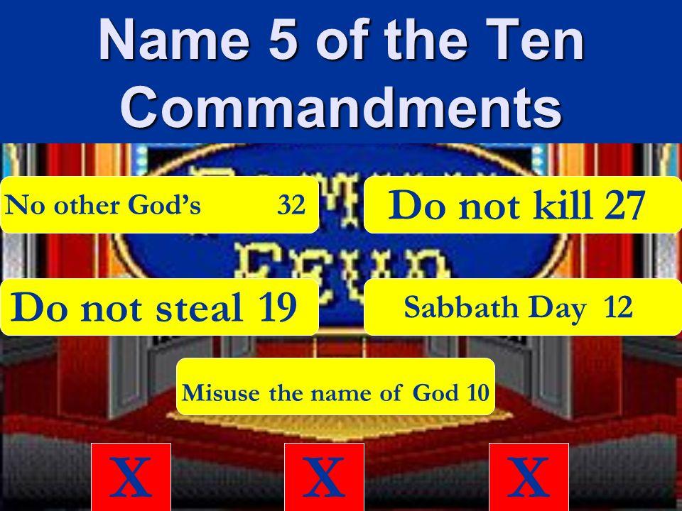 ten commandments Xxx