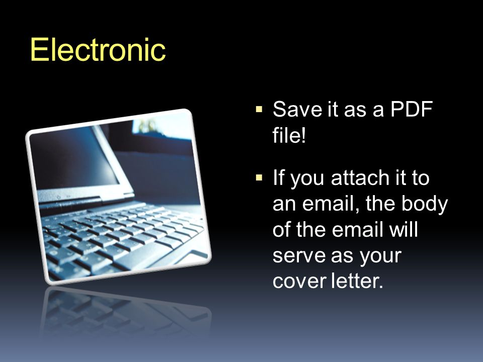 Electronic  Save it as a PDF file.