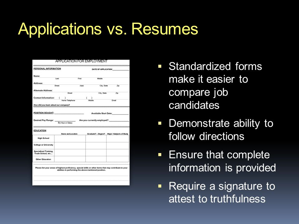 Applications vs.