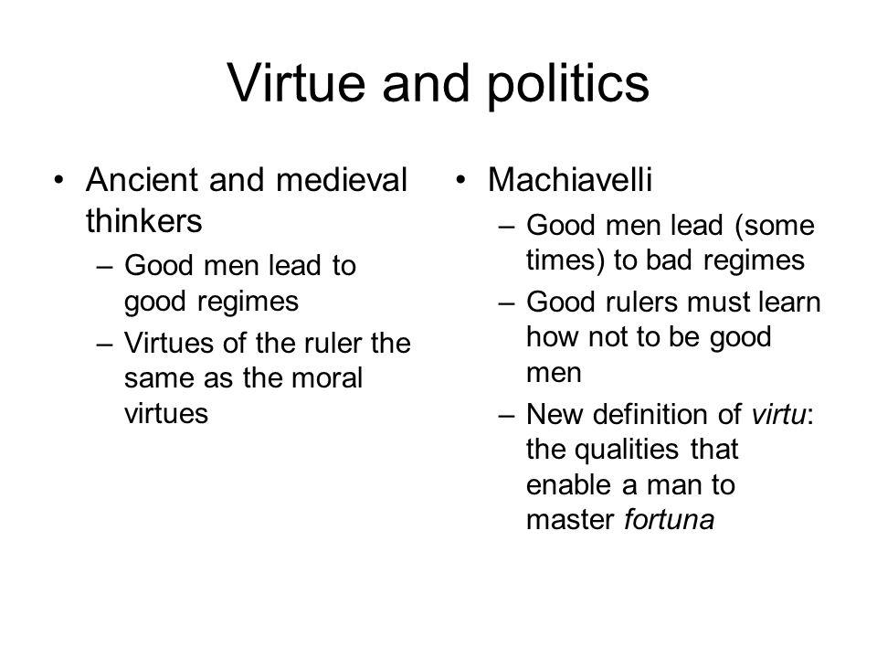 how does machiavelli define virtue