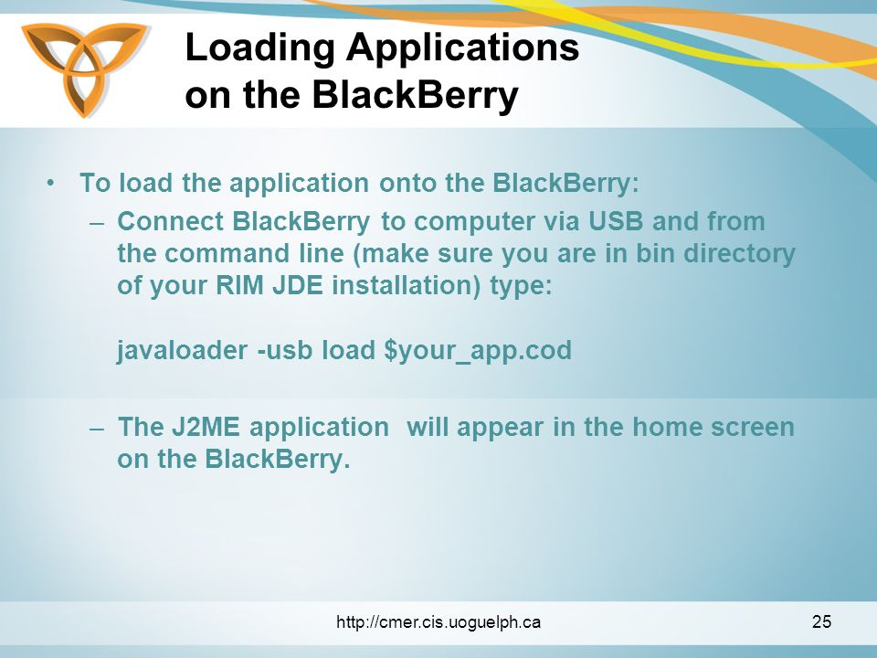 Mobile Applications with Java ME & BlackBerry  Overview Java