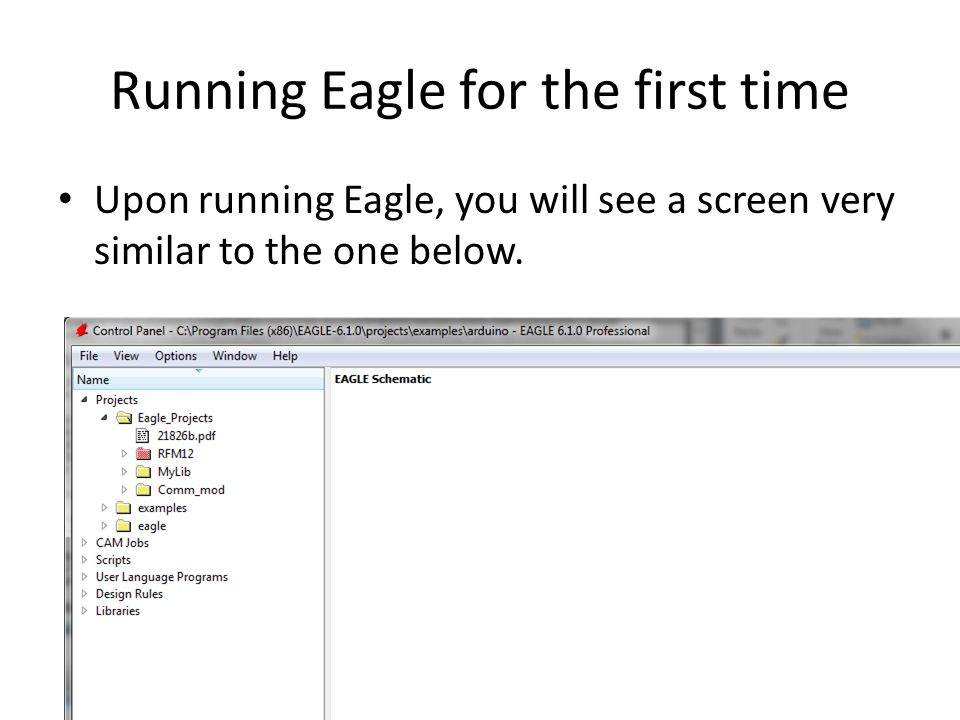 Cadsoft Eagle Tutorial  Objectives Recognise the difference between