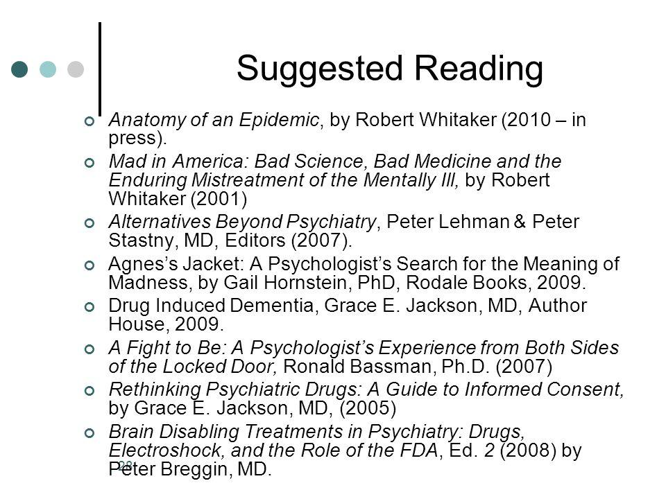 1 Needed Reforms in Mental Health James B. (Jim) Gottstein, Esq. Law ...