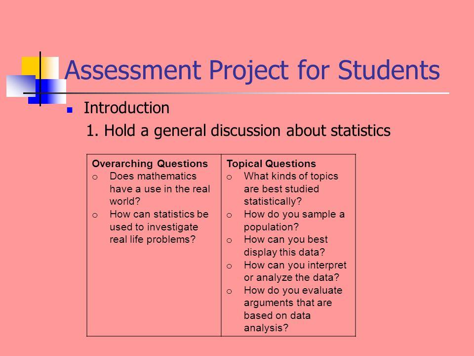 interesting topics statistics project
