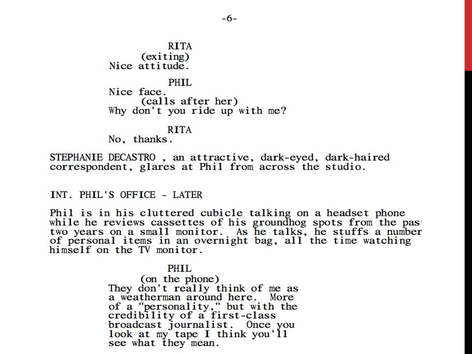 writing screenplays standard 1 0 script writing ppt download