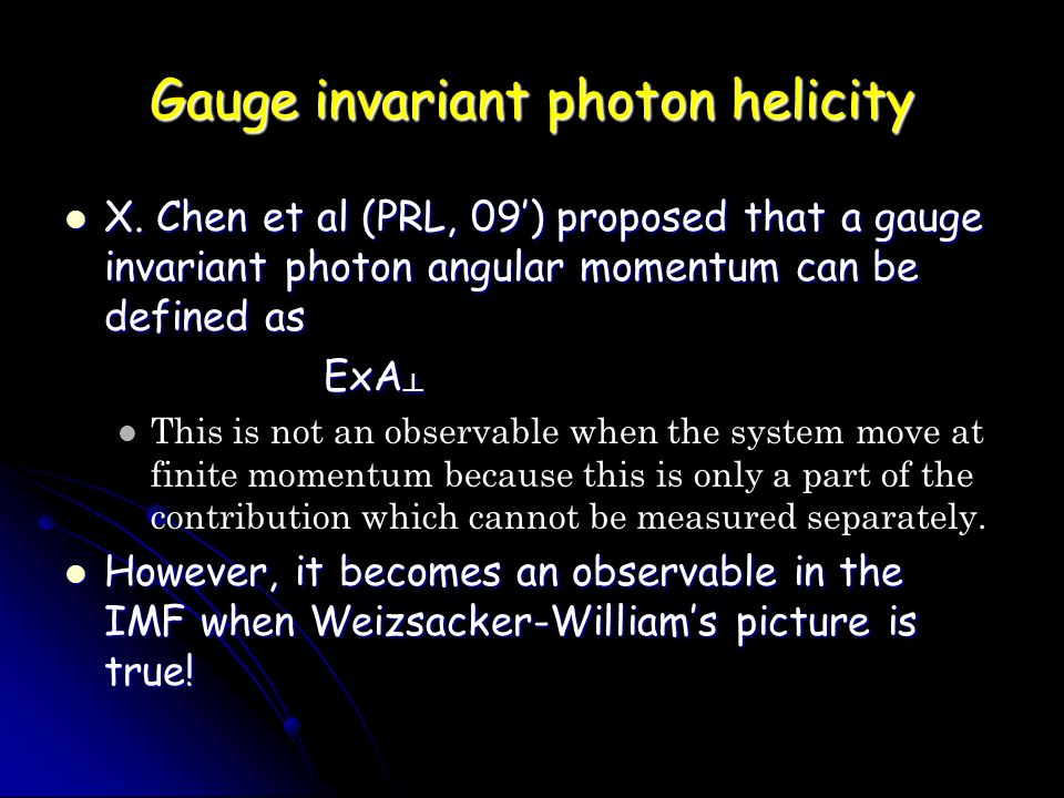 Gauge invariant photon helicity X.