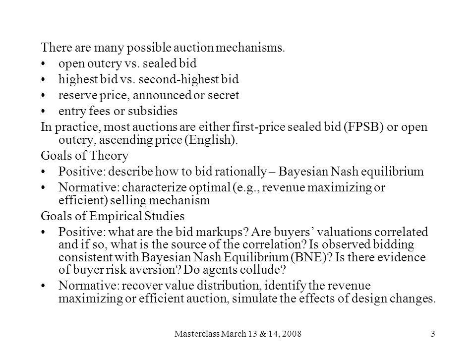 Masterclass: Recent Empirical Analysis of Auction Markets