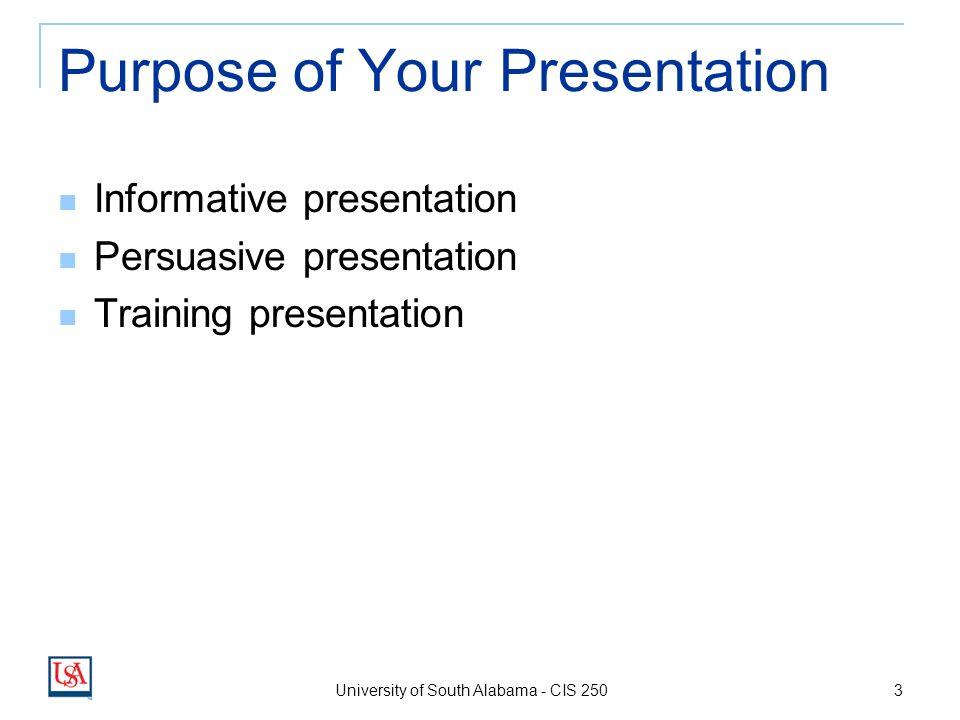 Effective Presentation Techniques Angela Clark University Of South
