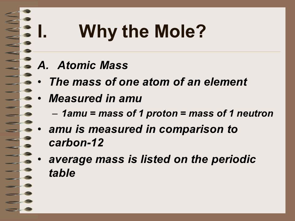 The atomic mass of an element is determined by
