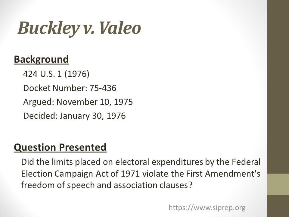 buckley v valeo essay