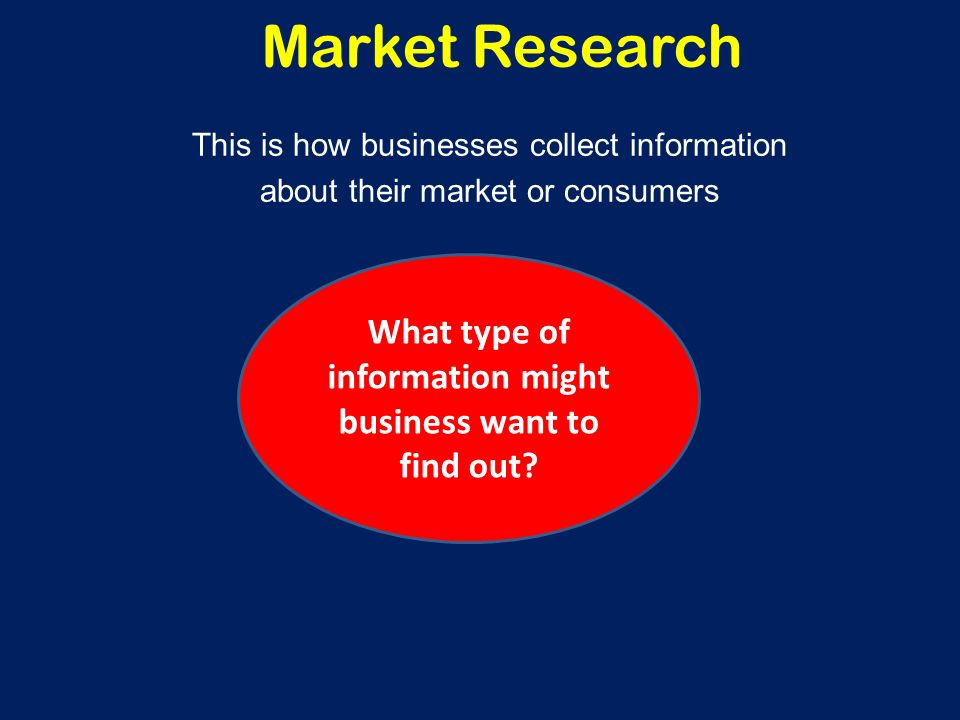 Learning Outcomes To understand what a market-oriented business is and how it uses market research To understand what Primary research and Secondary research is – the methods that can be used and the benefits and limitations of each To understand the following methods of primary market research – postal questionnaire, online survey, interviews, focus groups, the need for sampling To be aware of the factors influencing the accuracy of market research data.
