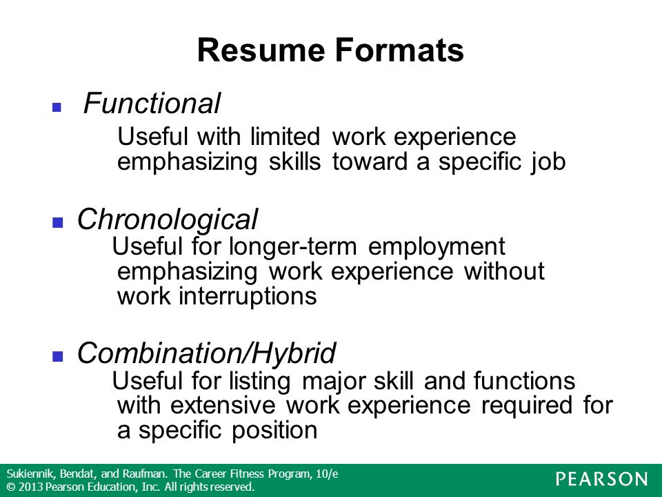 Sukiennik, Bendat, and Raufman. The Career Fitness Program, 10/e © 2013 Pearson Education, Inc.