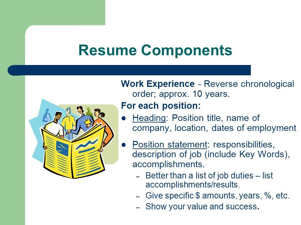 Rockin\' Resume Workshop Employment Resource Center W207 Lake ...