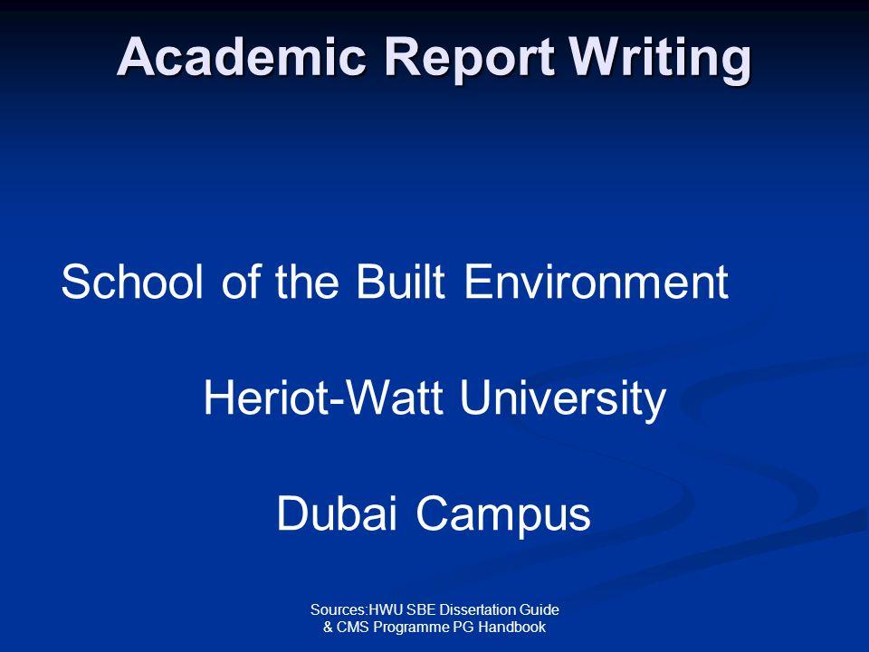 heriot watt dissertation sbe