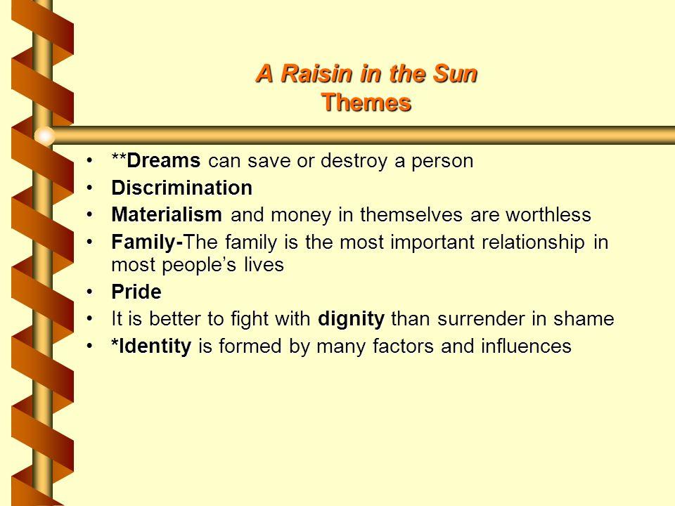 a raisin in the sun themes