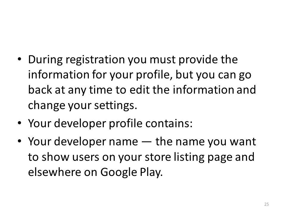 google developer profile