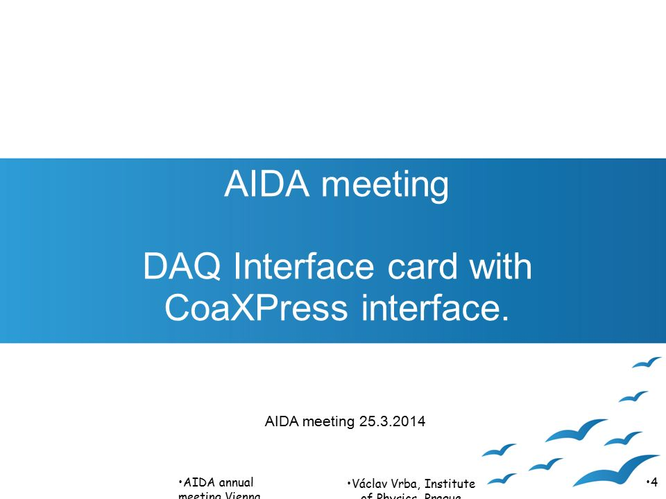 AIDA meeting DAQ Interface card with CoaXPress interface.