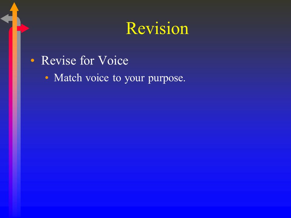 Revision Revise for Voice Match voice to your purpose.