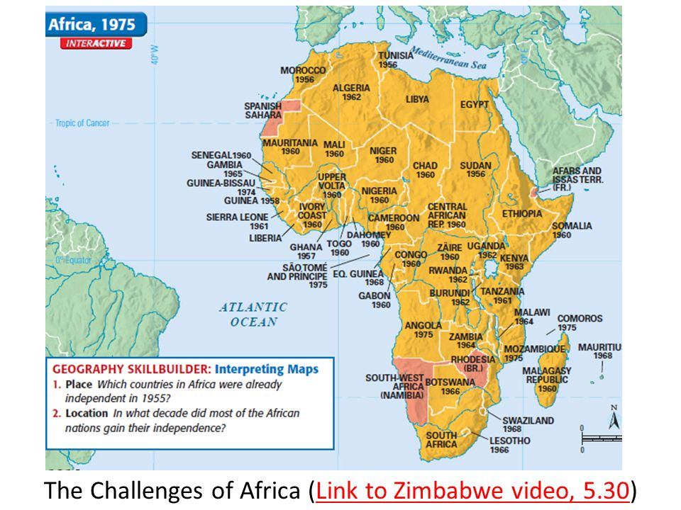 The Challenges of Africa (Link to Zimbabwe video, 5.30)Link to Zimbabwe video, 5.30
