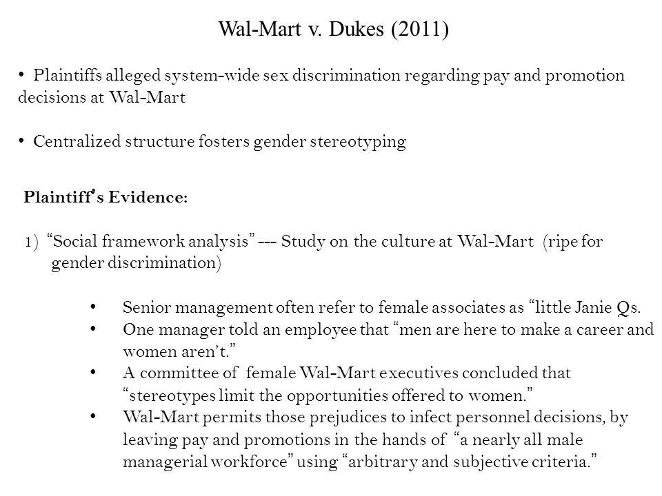 Sexual discrimination at walmart