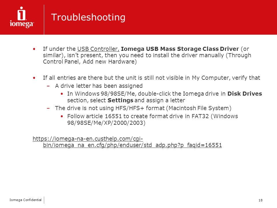 IOMEGA USB MASS STORAGE CLASS DRIVER FOR WINDOWS 8