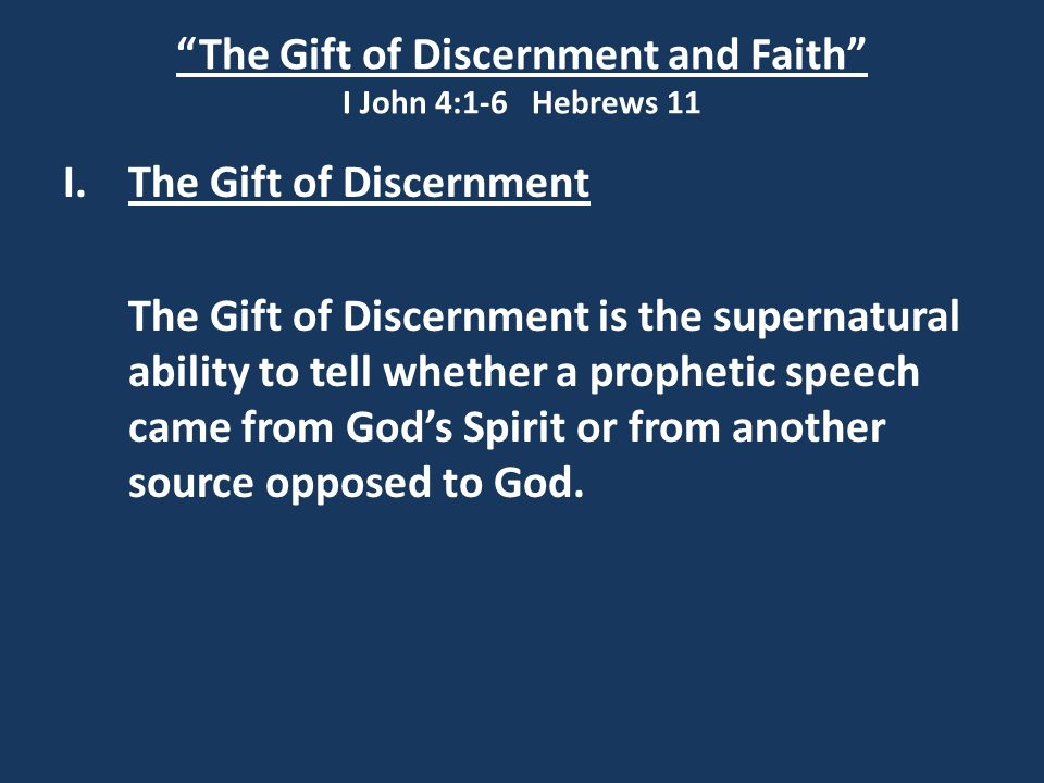 "5 ""The Gift of Discernment ..."