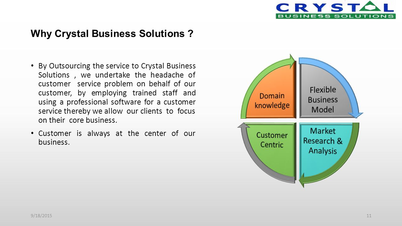 Why Crystal Business Solutions .