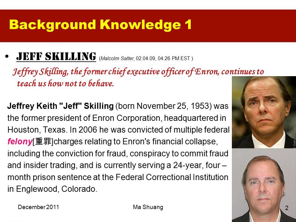 jeffrey skilling biography
