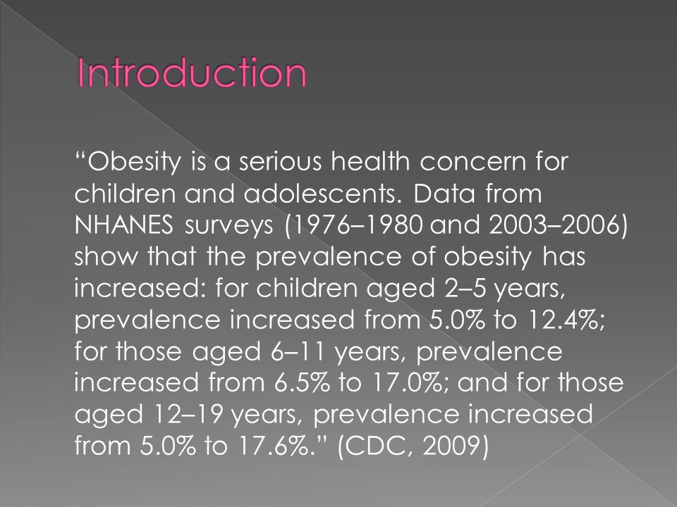childhood obesity introduction