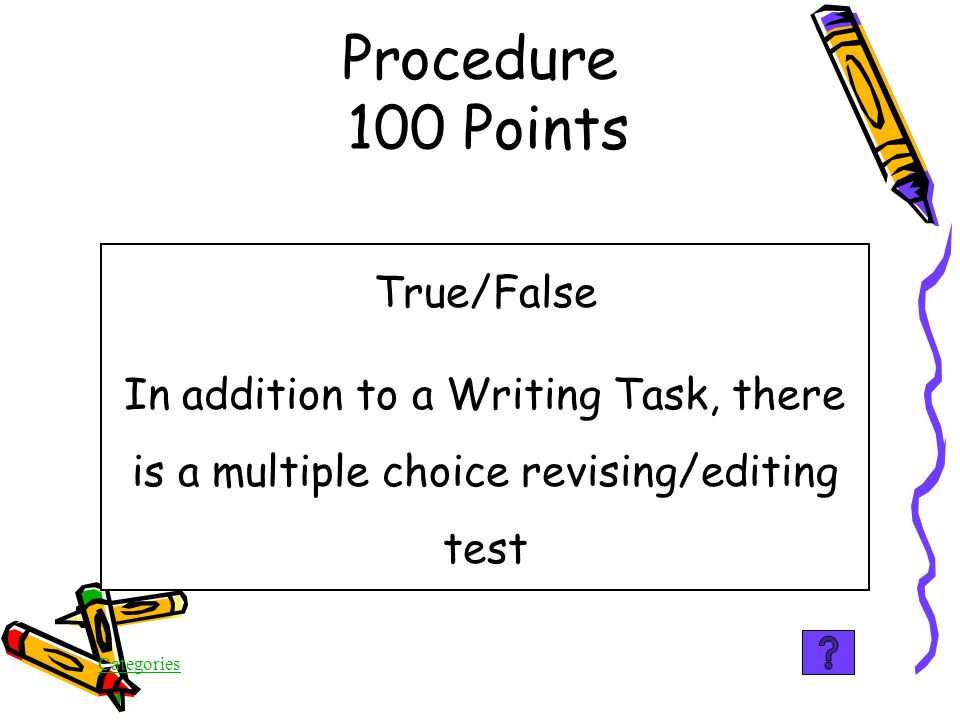 Categories The proficient writer demonstrates control and variety in sentence structure Structure 500 Points