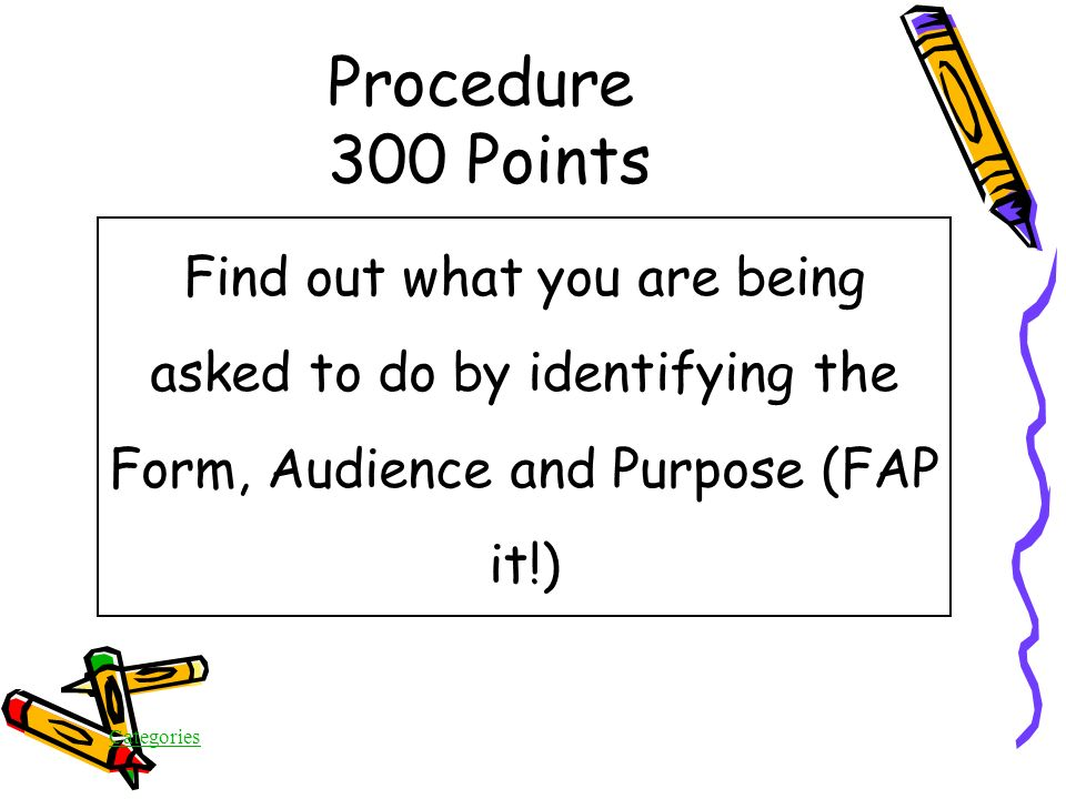 Categories Procedure 300 Points When you receive the On Demand test, what is one of the first steps you should take