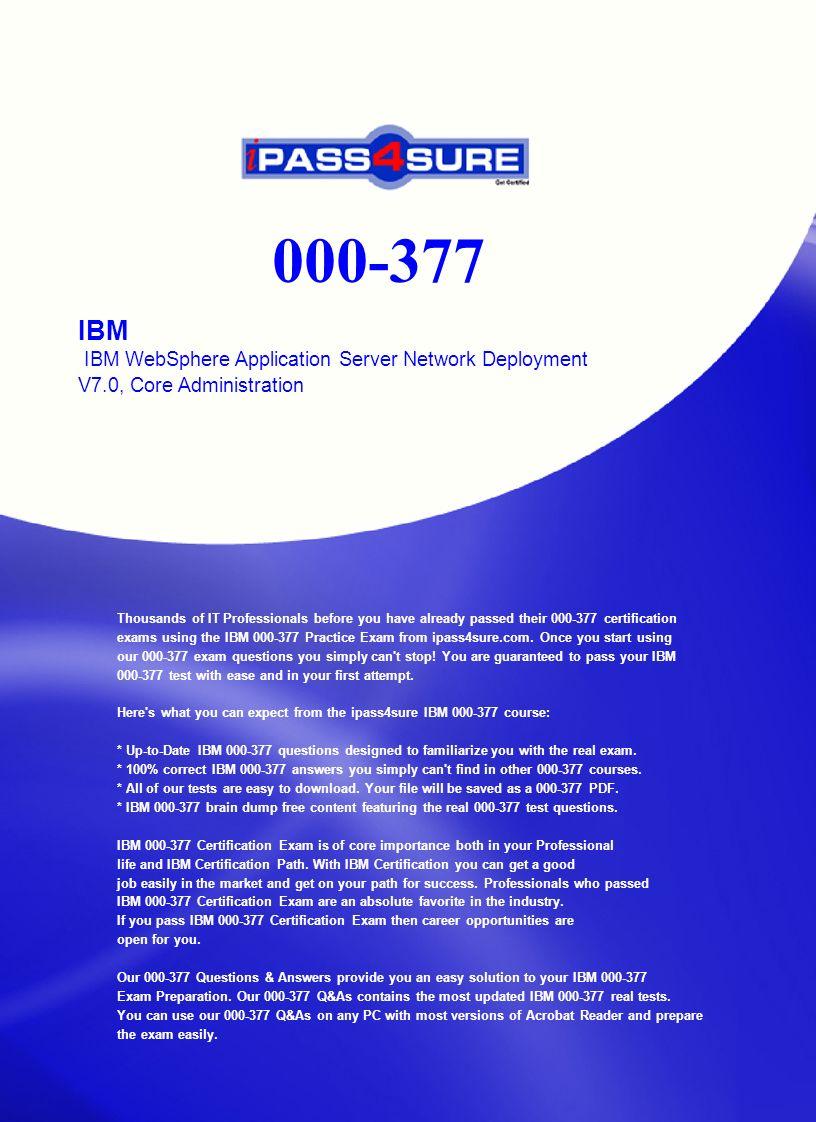 Ibm 000-377 exam examkiller. Net.