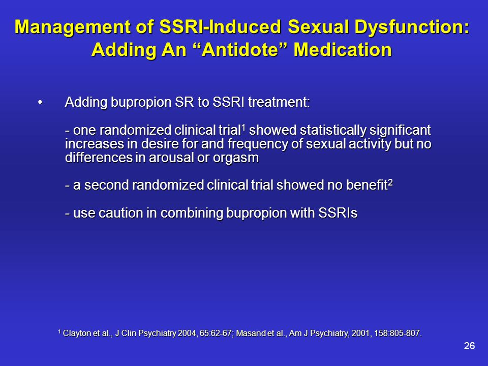 Wellbutrin for ssri induced sexual dysfunction