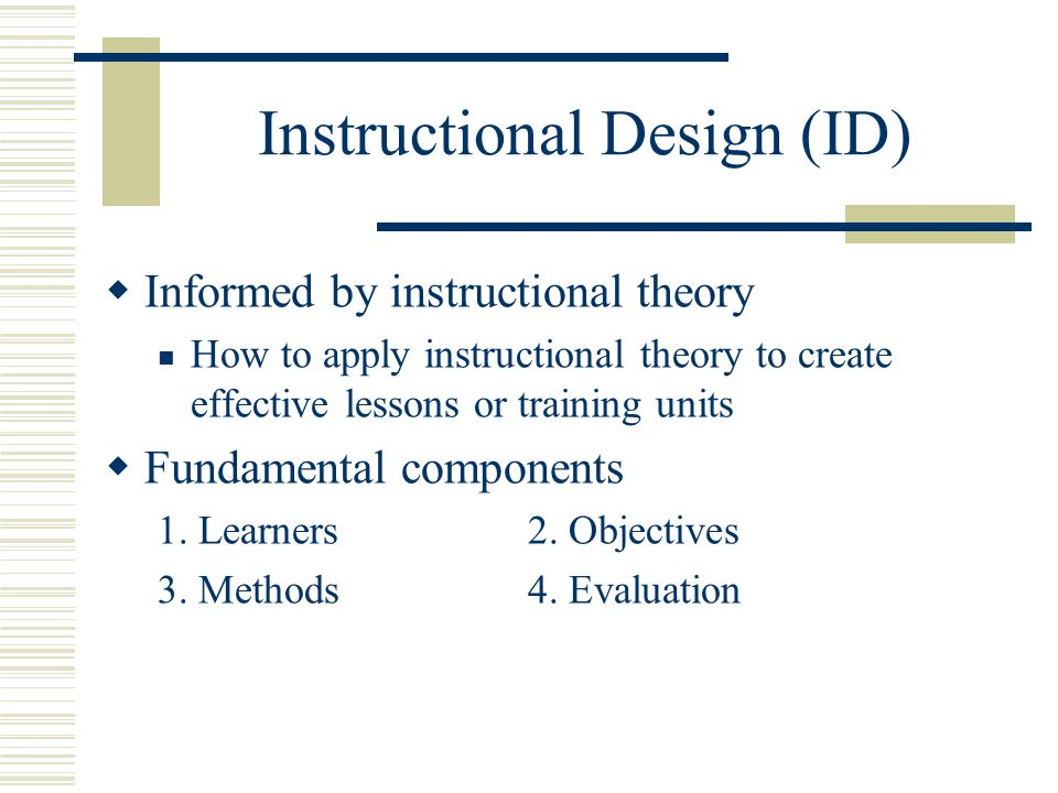 Learning Theories Instructional Theories And Instructional Design