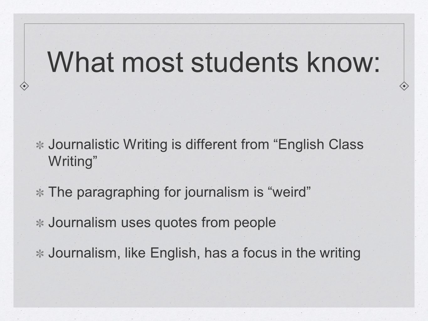 Make Headlines With The Quality Of Your Writing What Most Students