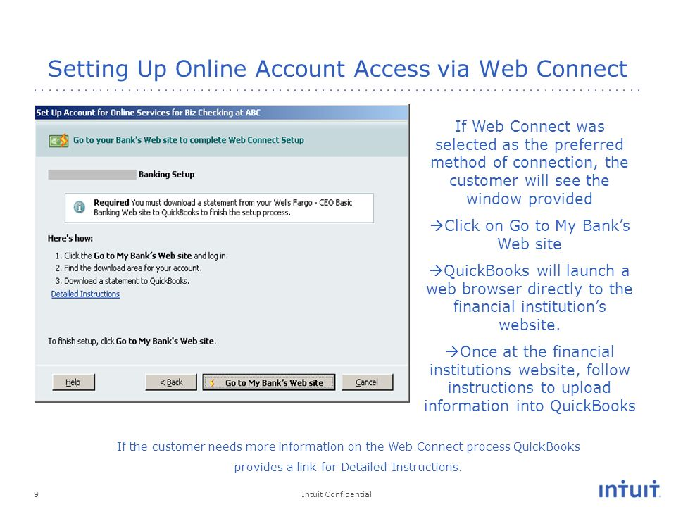 Delight QuickBooks Online Banking Internal Support Training