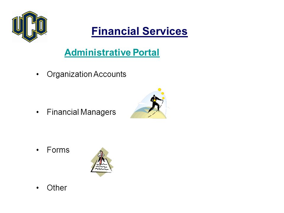 Financial Services Administrative Portal Organization Accounts Financial Managers Forms Other