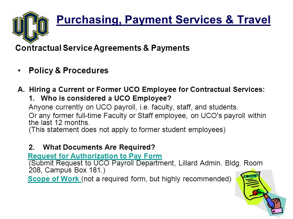 Purchasing, Payment Services & Travel Policy & Procedures A.