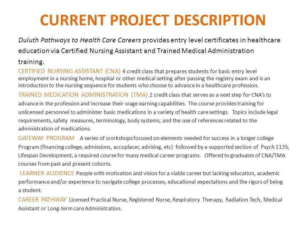 Duluth Healthcare Career Pathway INSTRUCTORS Cheryl Jost, Certified ...