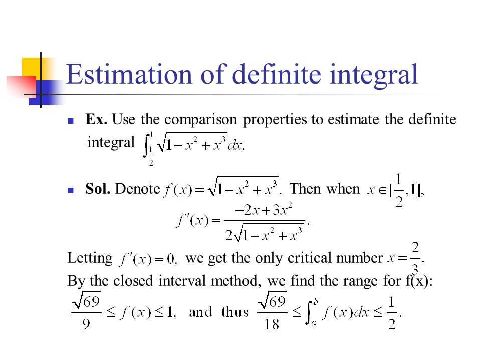 Estimation of definite integral Ex.