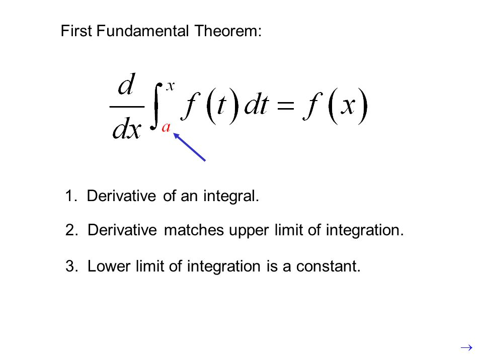 2. Derivative matches upper limit of integration.