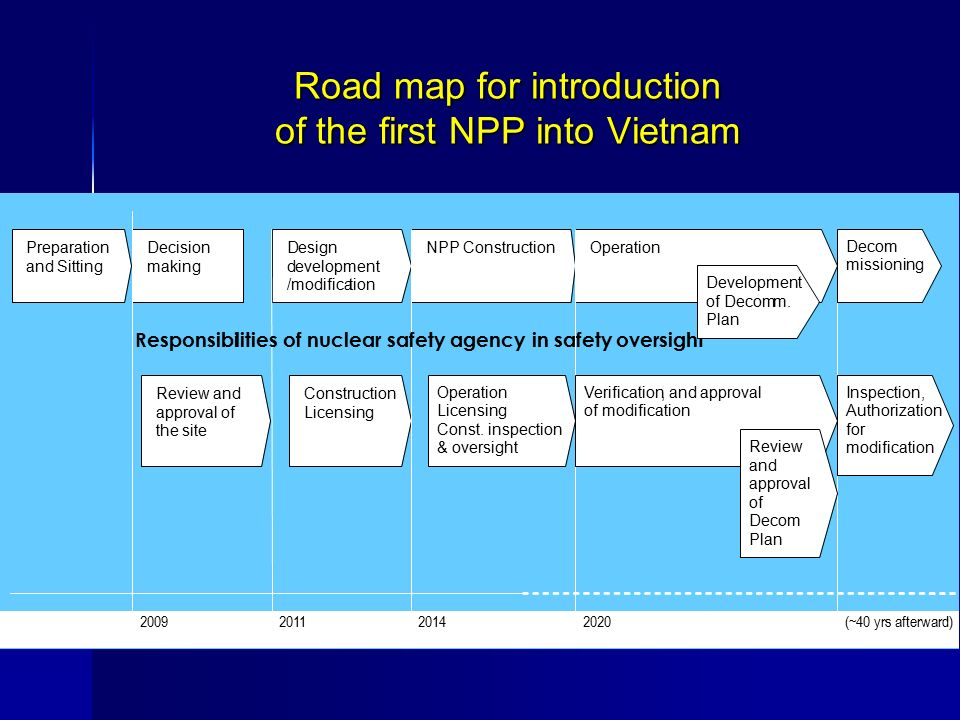 Road map for introduction of the first NPP into Vietnam