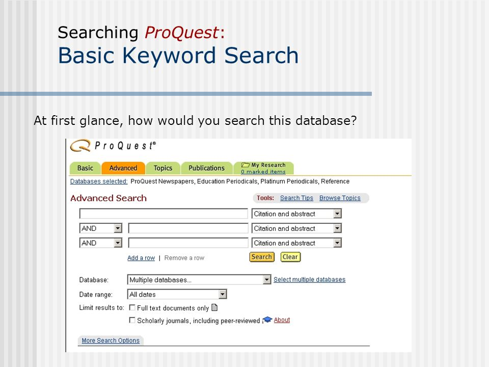 Image result for keyword search database