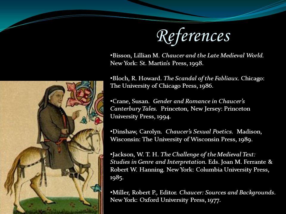 Chaucers sexual poetics