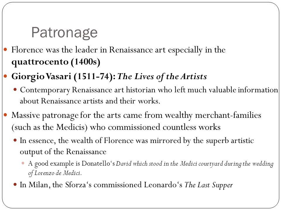 patronage renaissance