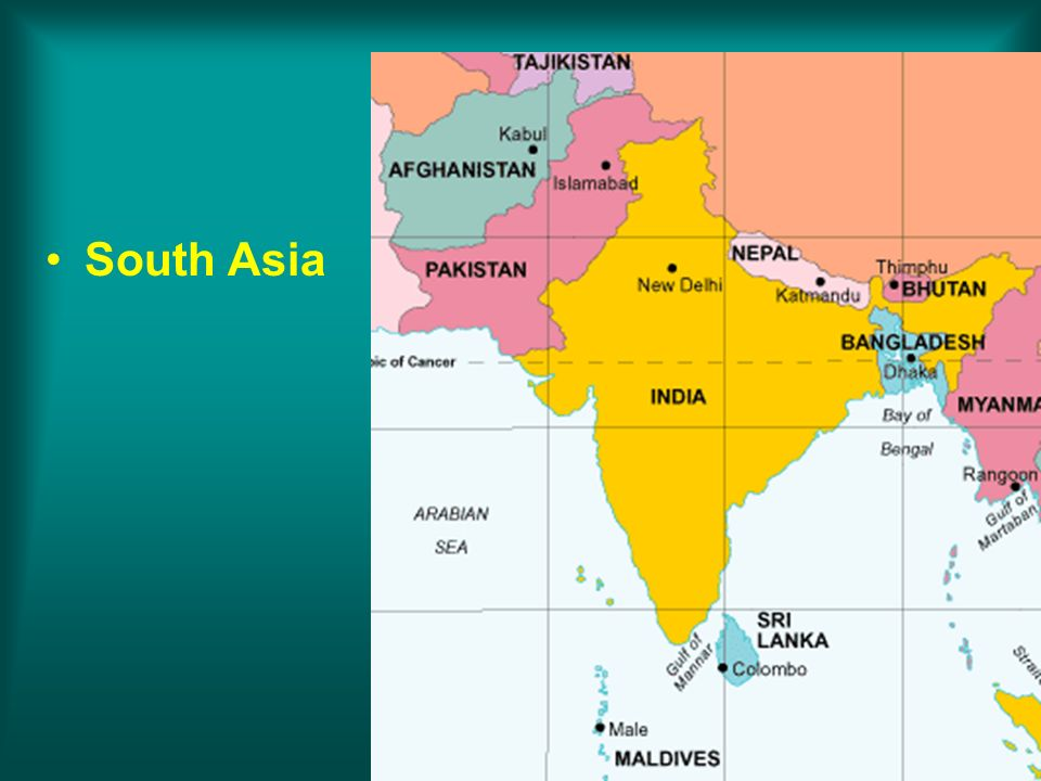 © 2011 Pearson Education, Inc. South Asia