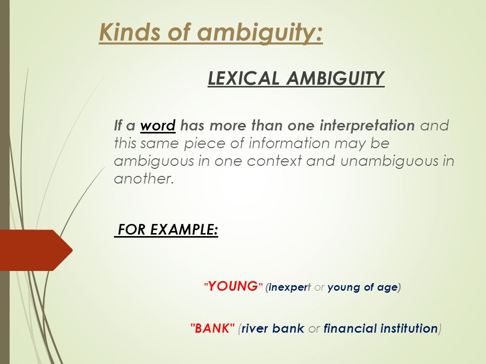 Applied Linguistics Ambiguity Look At This What Is Ambiguity A