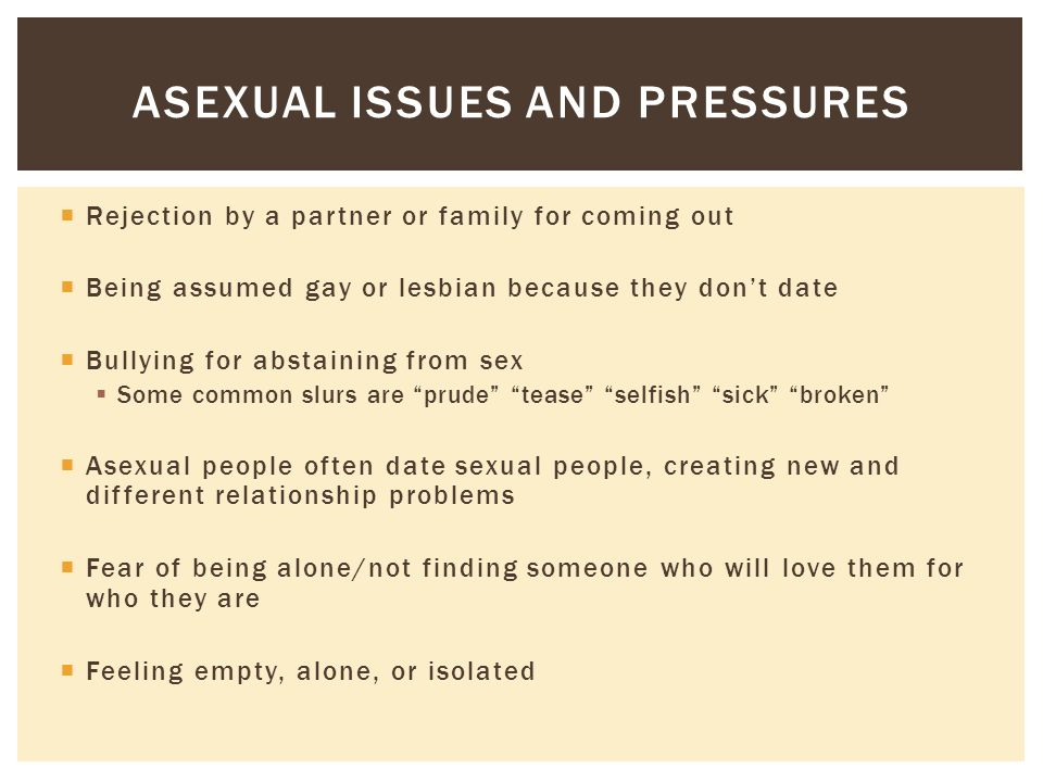 Asexual relationship problems